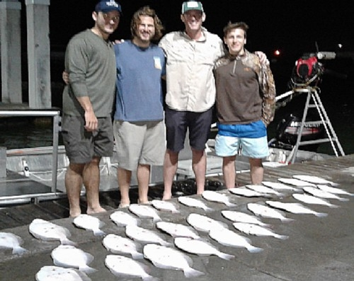 4 YOUNG GUNS WITH FLOUNDER